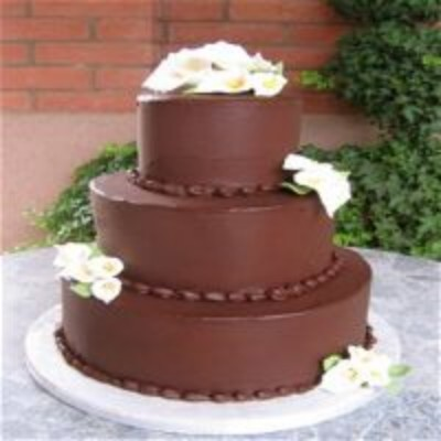 Three Tier Wedding Cakes With Flowers
