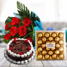 Combo Gifts Online Delivery Anniversary Birthday Cake Flowers Combo
